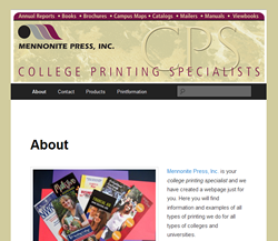 College Printing Specialist Website